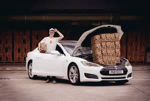 Tesla Electric Car Used Phatrice Pioneers Green Delivery Via Tesla Electric Cars