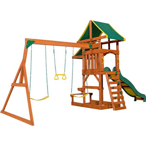 Backyard Discovery Cedar Swing Set Backyard Discovery Tucson Cedar Wooden Swing Set Outdoor