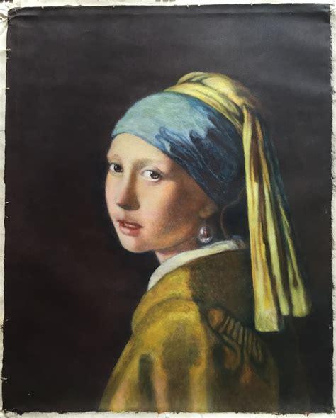 comprar cuadro la joven de la perla cuadros vermeer la joven de la perla copia oleo sobre tela 11 000 00 en mercado libre