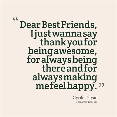 thank you letter to best friend dear best friend for always and best friends on