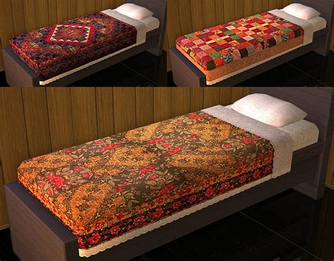 mod  sims project  cozy   patchwork part  bedding maxis recolor