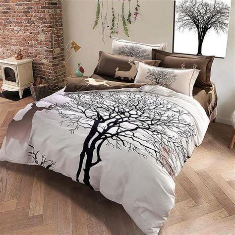 Deer Bed Sets Deer And Trees Brown Bedding Set 99sheets Bedrooms