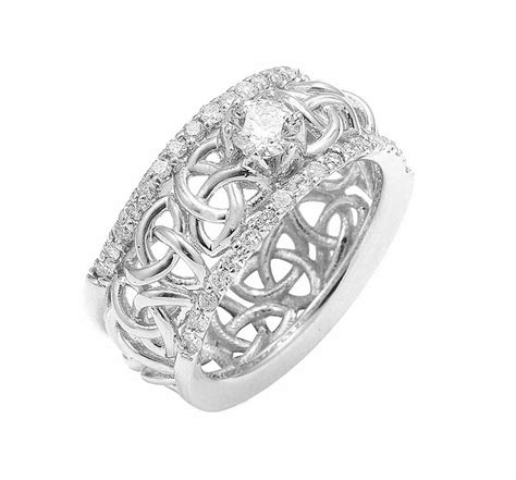 celtic wedding ring white gold celtic