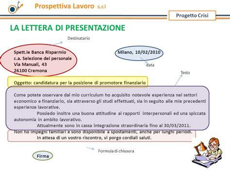 Lettera Di Presentazione Per Banca by La Lettera Di Presentazione Ppt Scaricare