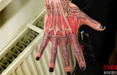 3d tattoo hand bones brilliant 3d hand muscles and bones tattoo