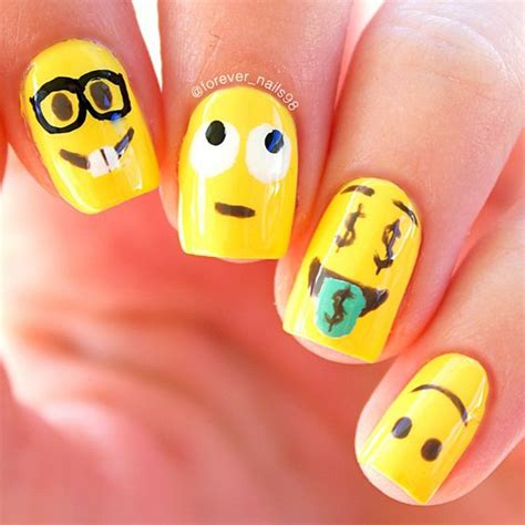 emoji nail art tutorial let s make some cute emoji nail art emoji nails and