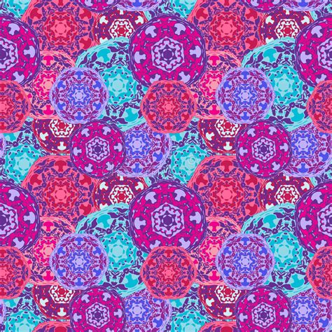 vector seamless pattern abstract background with round gypsy seamless pattern of abstract multicolored round