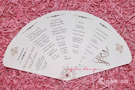 fan n card template free printable wedding program templates you ll