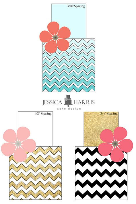cake decorating templates printable small chevron cake template free 3 designs