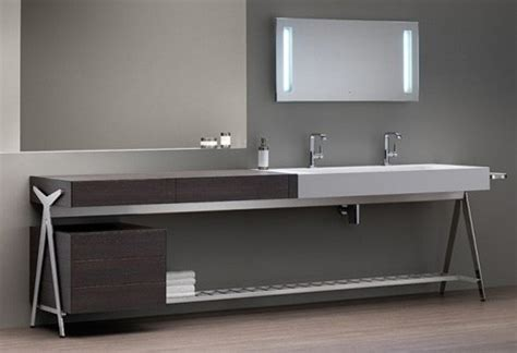 bath vanity with built in dressing table by dedecker