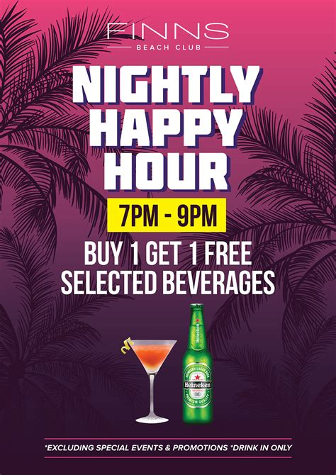 nightly happy hour finns beach club bali