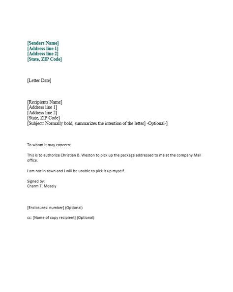letter format of authorization 46 free authorization letter sles templates free