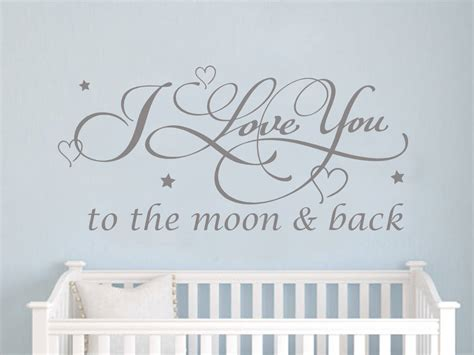 i you to the moon and back nursery decor add this i you to the moon back wall sticker to
