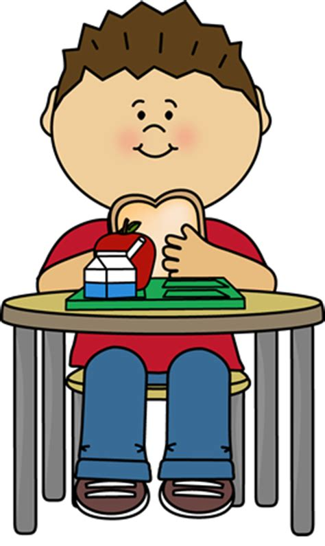 Home Library eating at table clip art 21