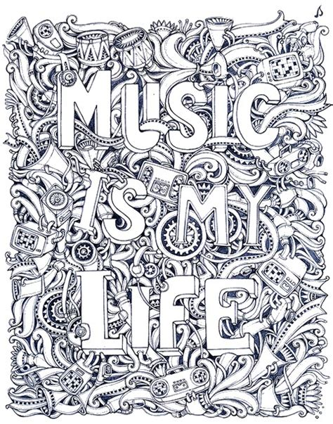 adult coloring page music 12