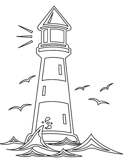 realistic lighthouse coloring pages www imgkid com the