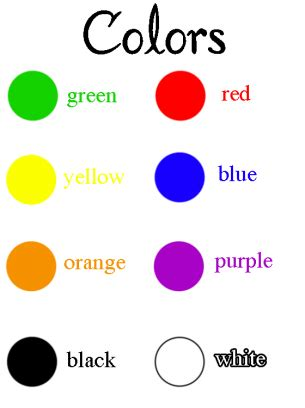 how to teach colors teaching colors printables state the color names