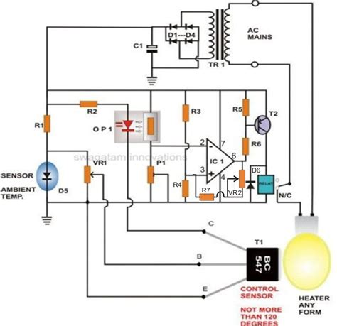 diagram of an incubator incubator thermostat circuit with hysteresis