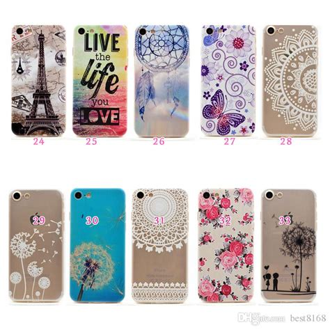 Casing Iphone 5 5s Cover Butterfly flower butterfly soft tpu gel for iphone 7 plus