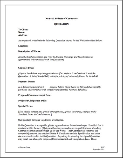 contractor terms and conditions template quotation terms and conditions template construction