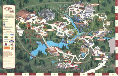 Busch Gardens Theme Park by Launisitpink Busch Gardens Williamsburg Map Of Park