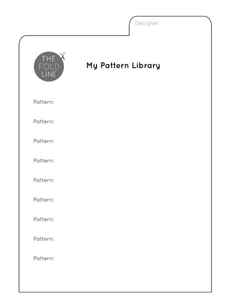 my pattern library free downloads to organise your sewing supplies the fold