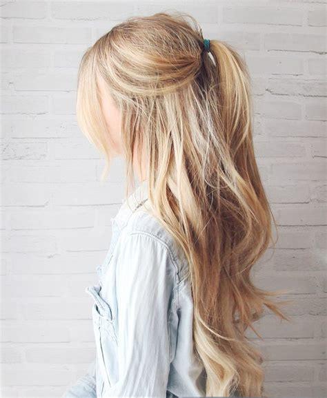 frisuren fuer lange blonde haare hair long hair