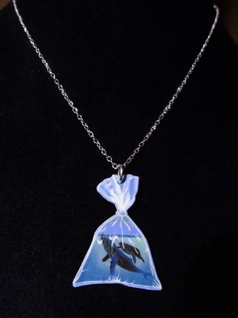 humpback whales in a bag necklace whale jewelry whale necklace