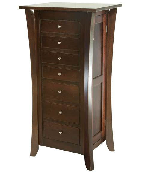jewelry chests armoires caledonia jewelry armoire amish direct furniture