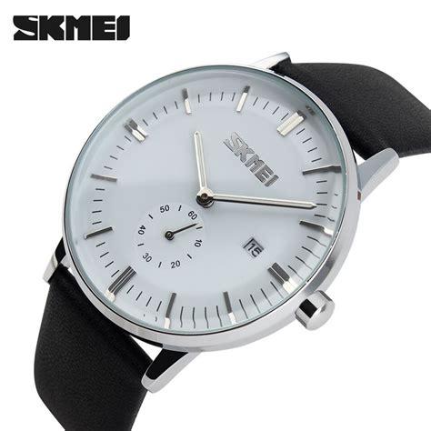 Komponen Jam Tangan Analog skmei jam tangan analog pria 9083cl white jakartanotebook