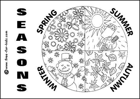Seasons Coloring Pages seasons colouring pages