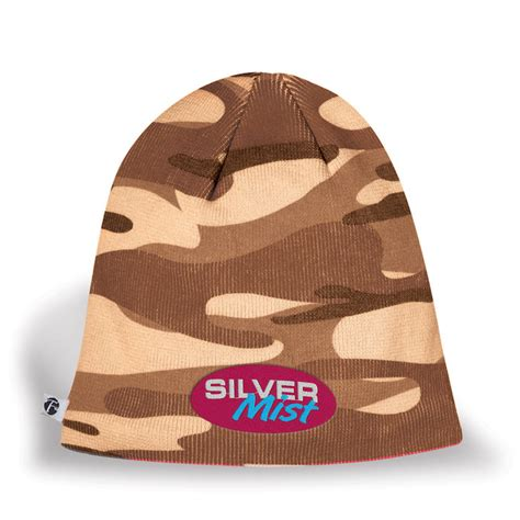 smooth a story books 4imprint ca camouflage knit beanie c121829