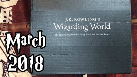 j k rowlings wizarding world 1408885972 march 2018 j k rowling s wizarding world by loot crate unboxing quot enchanting essentials quot youtube