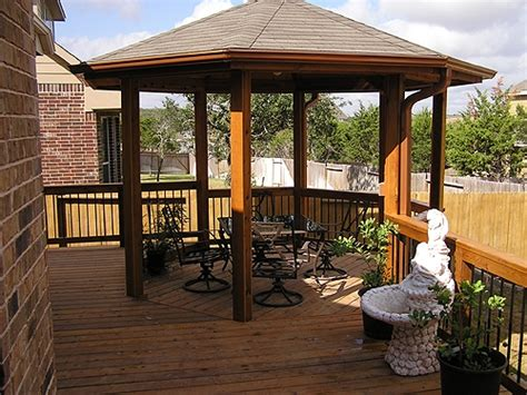 deck gazebo custom gazebos san antonio tx j r s custom decks