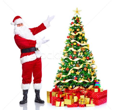 pictures of crismas tree and centaclaus santa claus and tree stock photo 169 kurhan 1433088 stockfresh