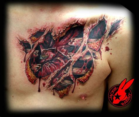 3d heart tattoo designs tear out by jackie rabbit healed by
