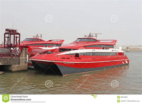 jet boat hong kong turbo jet fast boat hong kong macau editorial stock image