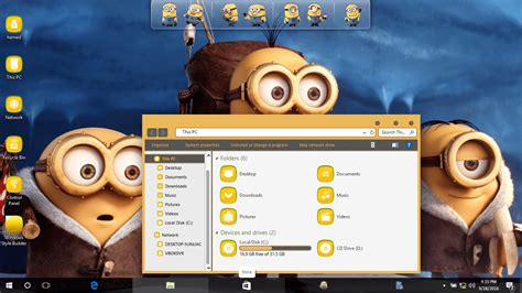 themes windows 10 minions minion skinpack skinpack customize your digital world