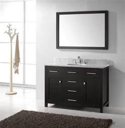 Bathroom Vanities Single Sink caroline 48 inch single sink bathroom vanity in espresso