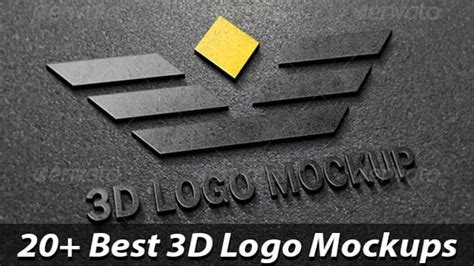 25  Best 3D Logo Mockup PSD & Vectors   Download