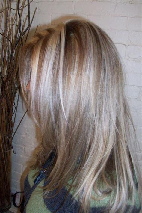 dark blonde with chocolate low lights dark blonde hair with platinum highlights and dark brown
