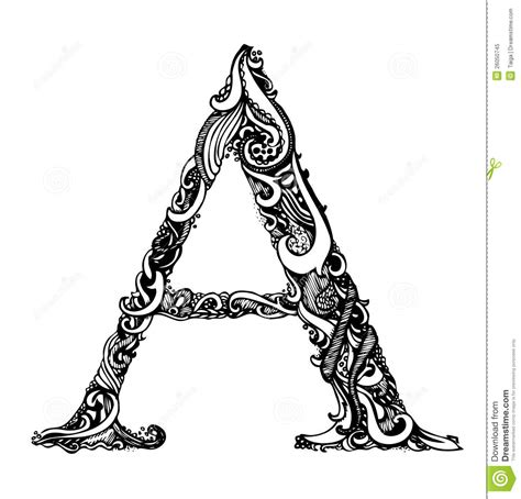 capital letter a calligraphic vintage swirly royalty