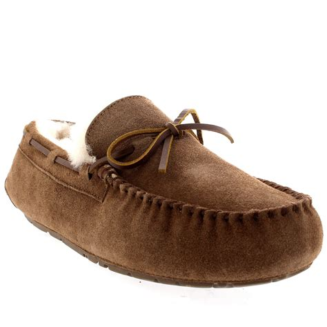 slippers with fur inside mens moccasin real sheepskin australian genuine fur lined