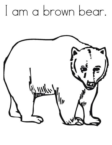 i am a brown bear coloring pages best place to color