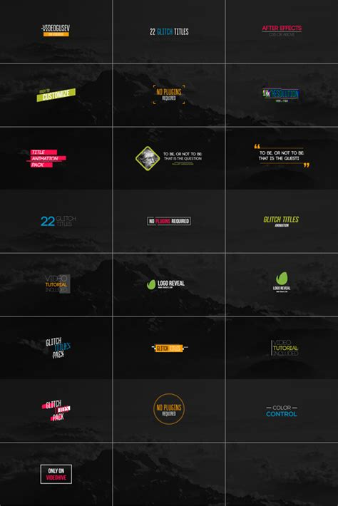 envato templates after effects free download 22 glitch titles abstract envato videohive after