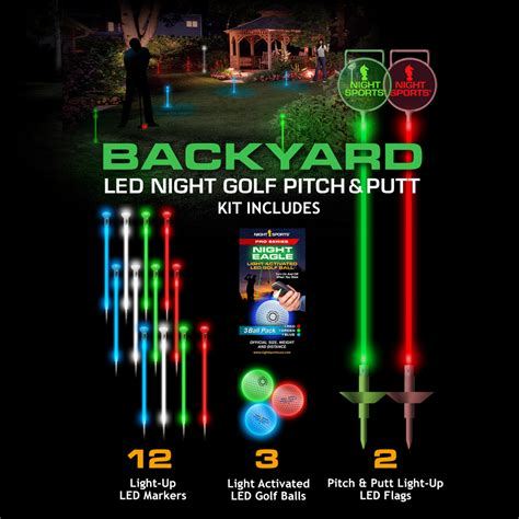 backyard golf set led backyard night golf set spectrum night sports usa touch of modern