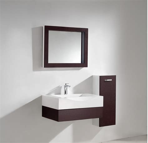 Modern Bathroom Vanity Set Aura Modern Bathroom Vanity Set With Side Cabinet And Led Mirror 29 5