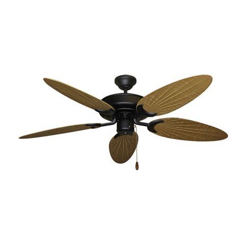 palm blade ceiling fan bamboo ceiling fan raindance matte black customize