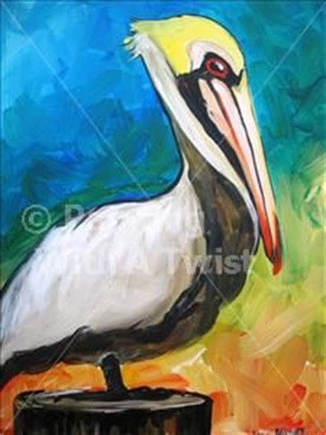 paint with a twist the falls pelicans in on pelican pelican