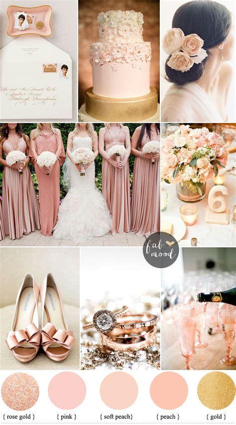 gold wedding colors blush gold sophisticated and beautiful